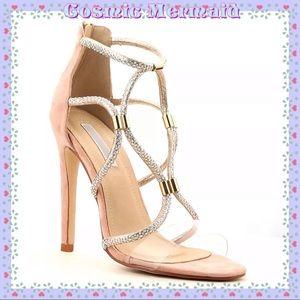Shoes - 🆕💖Rose Gold Open Toe Rhinestone Wrap Heel💖